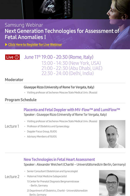 """Next Generation Technologies for Assessment of Fetal Anomalies"" 11  Giugno 2020- ore 19:00-20:30"